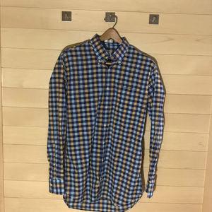Peter Millar Men's Gingham Dress Shirt